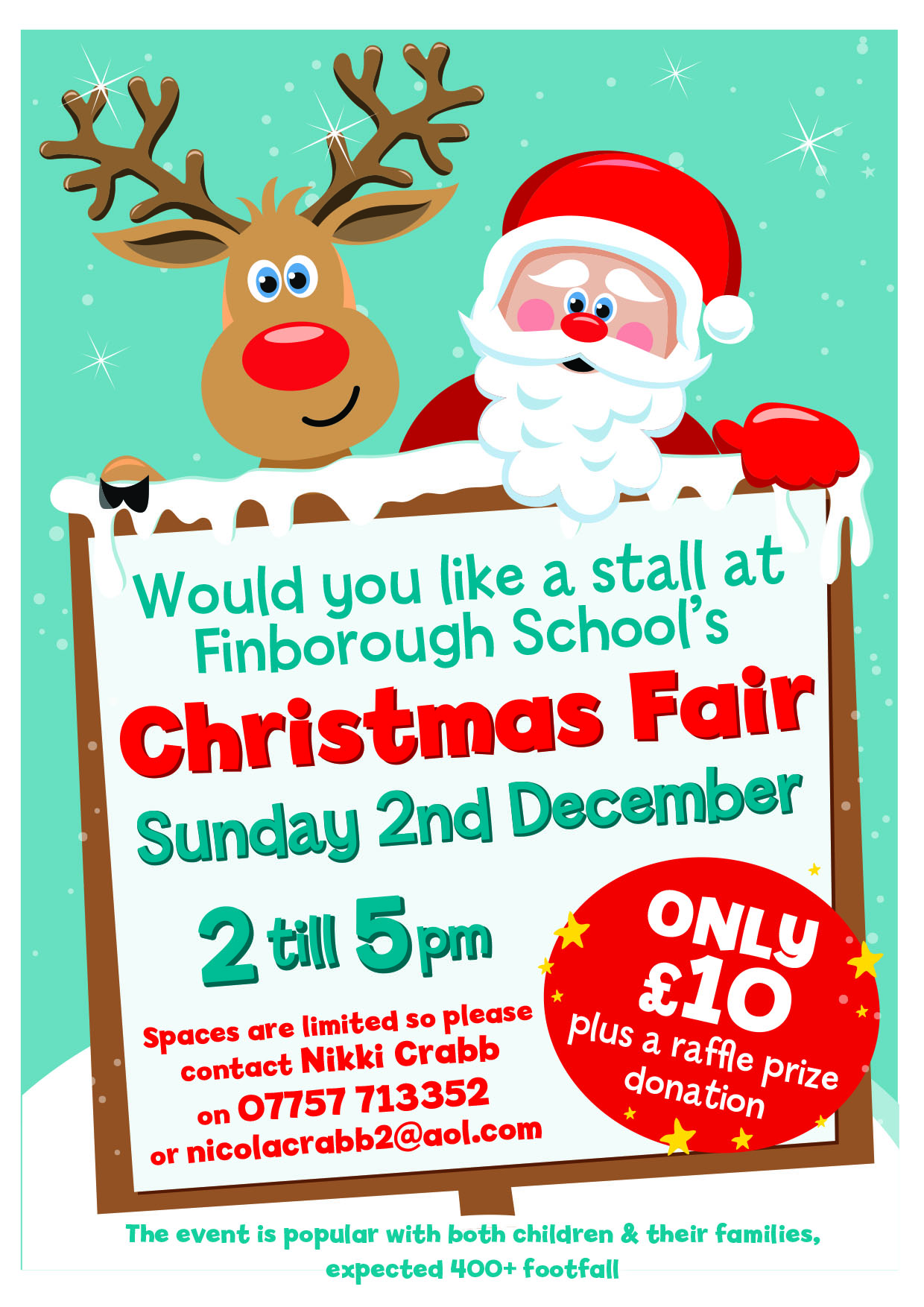 Stalls at the Friends of Finborough Christmas Fair
