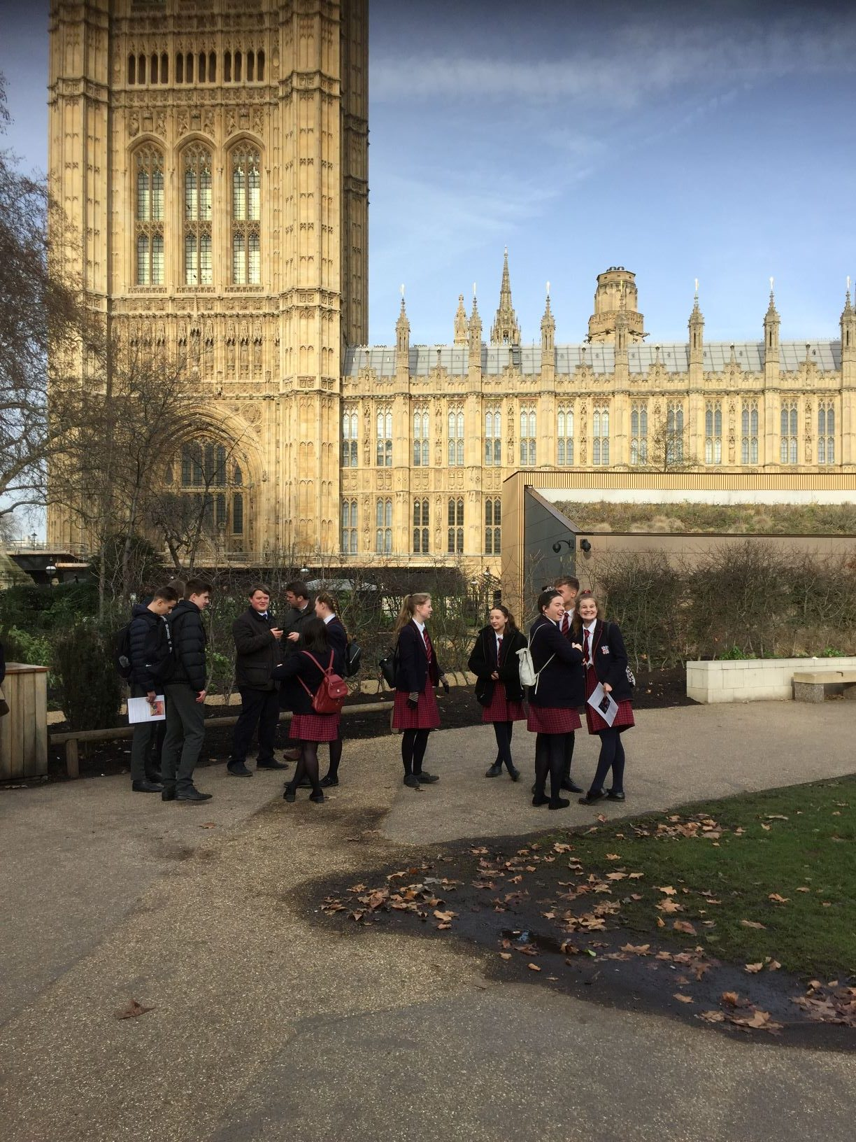 Finborough History Students visit westminster & Parliament