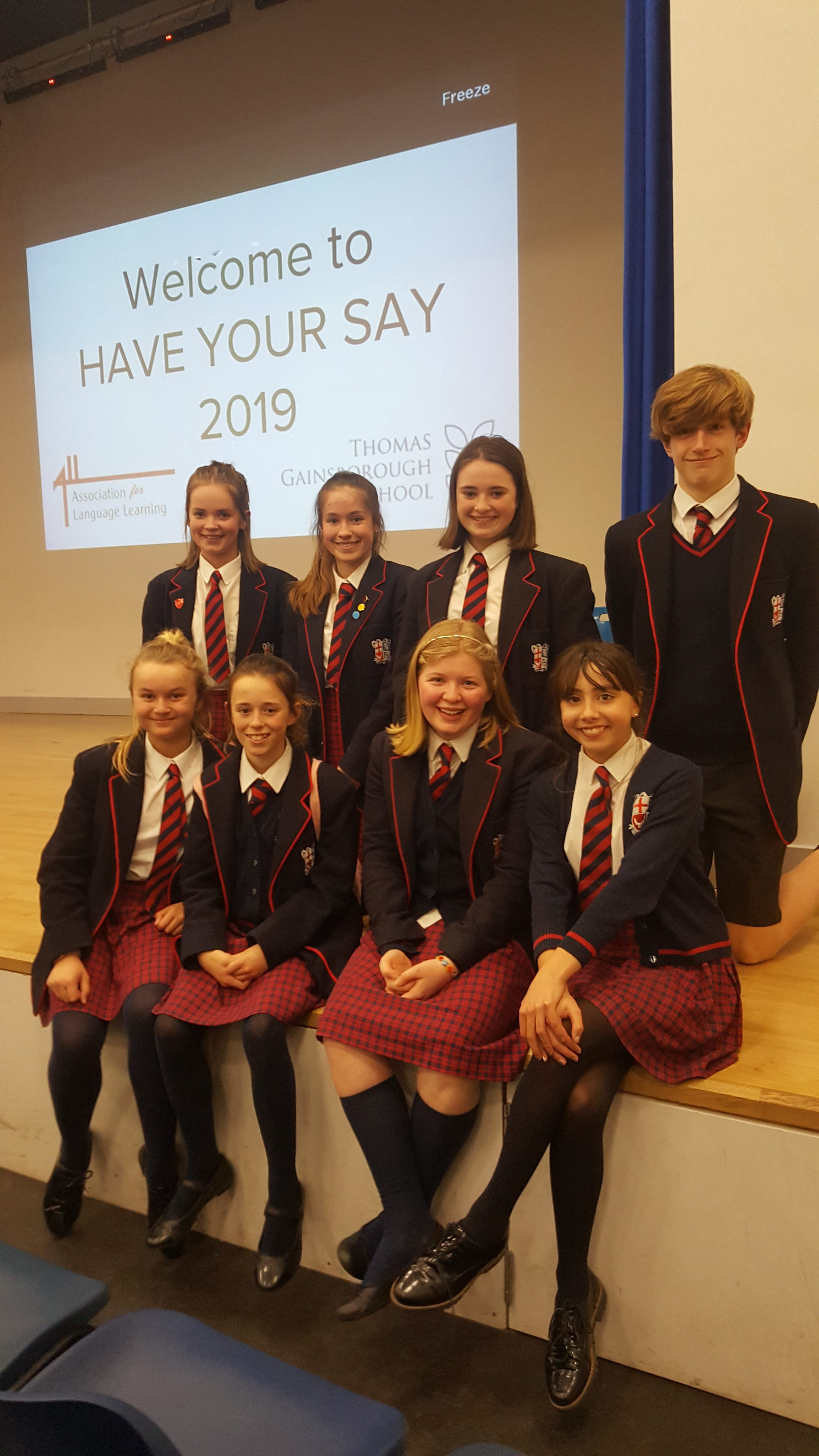 'Have Your Say' Language competition