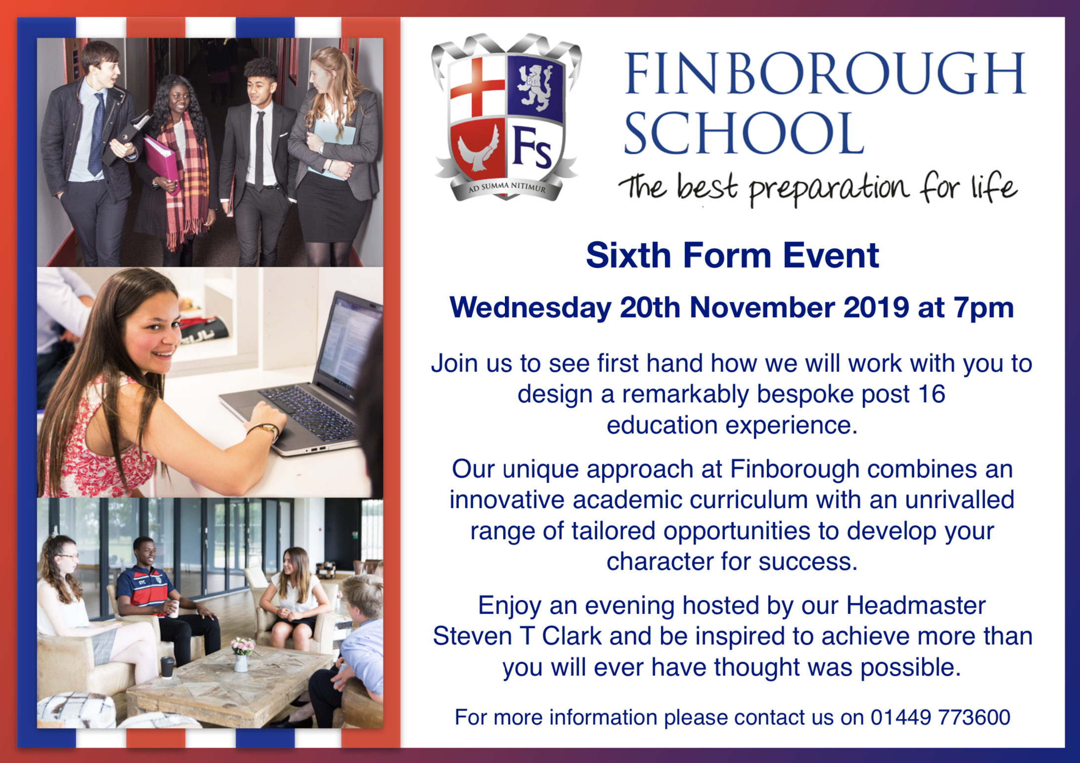 Finborough School Sixth Form Event