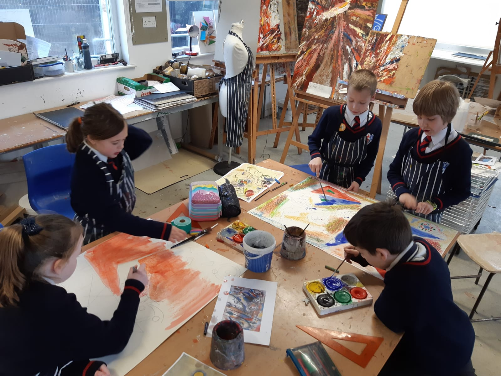 Prep 4 inspired by Kandinsky