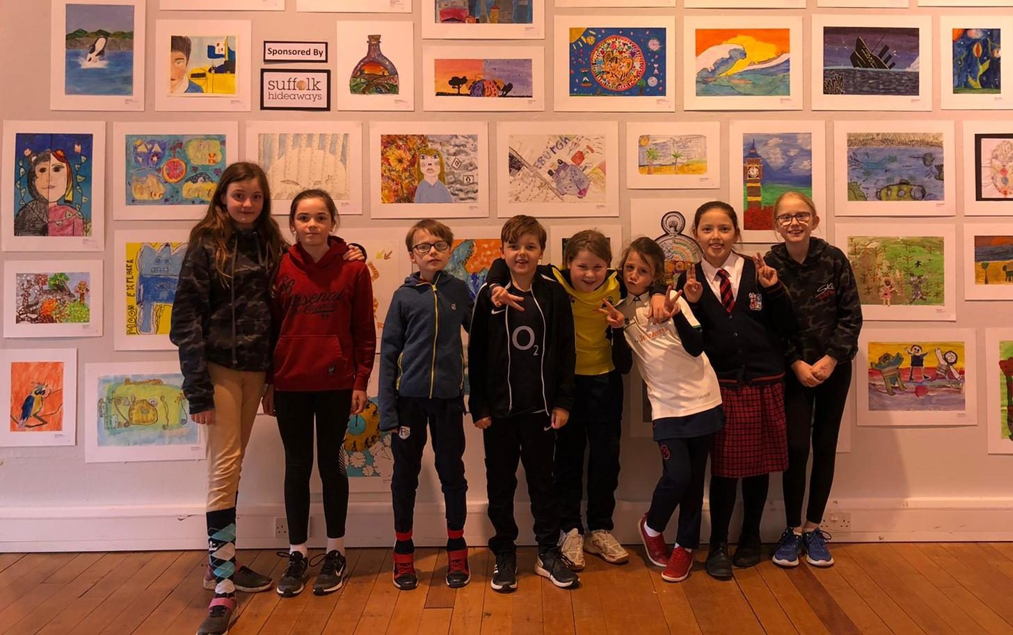 Proud Finborough Artists View their Art Work