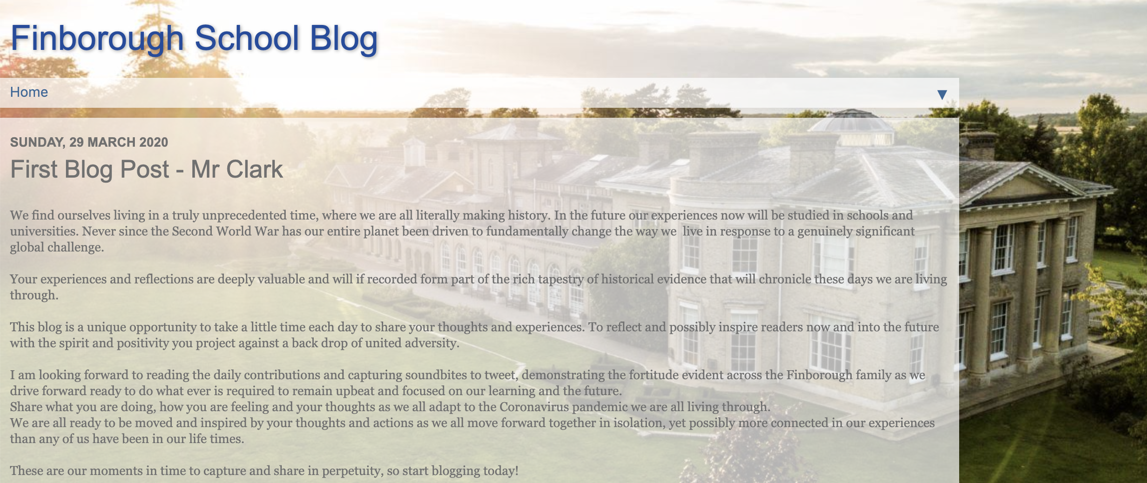 Finborough School Blog